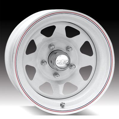 80 - White 8 Spoke Tires